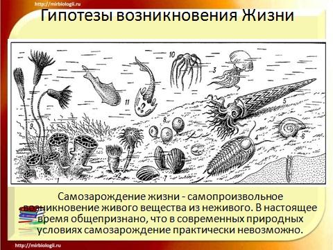 Происхождение земле тему жизни презентацию на